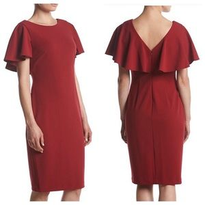 Calvin Klein Flutter Sleeve Dress Size 4